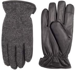 Dockers Men's InteliTouch Wool-Blend Fleece-Lined Touchscreen Gloves