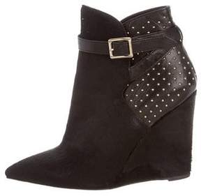 Burberry Ponyhair Studded Ankle Boots