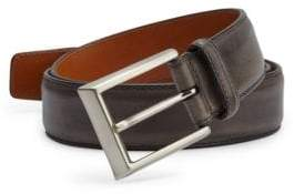 Saks Fifth Avenue COLLECTION BY MAGNANNI Barnished Leather Belt