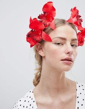Asos DESIGN Statement Color Drench Orchid Headband