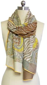Saachi Womens Multi Paisely Scarf.