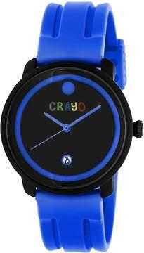 Crayo Fresh Black and Purple Dial Purple Rubber Unisex Watch