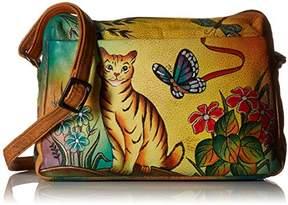Anuschka Anna by Genuine Leather Satchel Organizer | Hand-Painted Original Artwork |