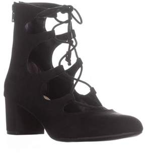 Bar III B35 Percy Lace-up Sandals, Black.