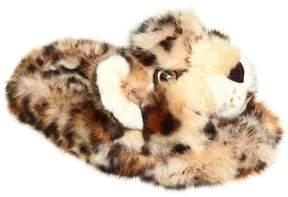 Dolce & Gabbana Leopard Faux Fur Slippers