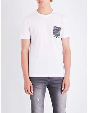 Replay Pocket cotton T-shirt