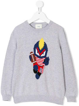 Fendi football monster intarsia jumper