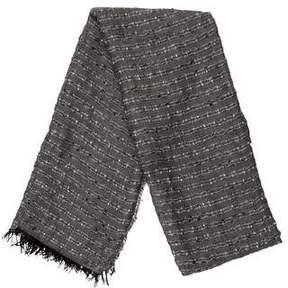Rag & Bone Patterned Knit Fringe-Trimmed Scarf