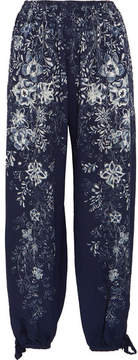 Chloé Printed Cady Pants - Blue