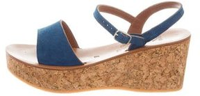 K Jacques St Tropez Josy Suede Wedges w/ Tags