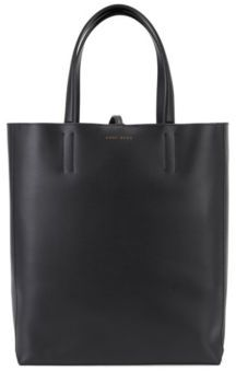 HUGO BOSS Leather Shopping Tote Parisienne One Size Black