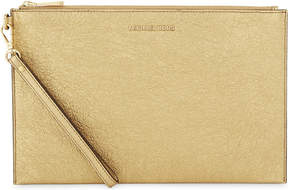 MICHAEL Michael Kors Crackled leather extra-large clutch - GOLD - STYLE