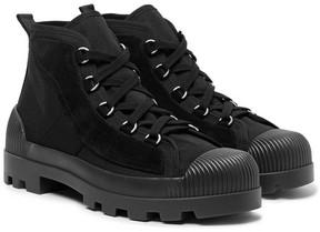 Acne Studios Daniel Suede-Panelled Canvas Boots