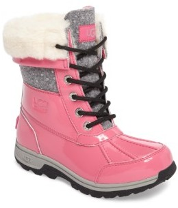 UGG Girl's Butte Ii Patent Sparkle Waterproof Boot