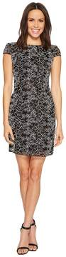 Adrianna Papell Cap Sleeve Corded Lace Sheath Cocktail Dress Women's Dress