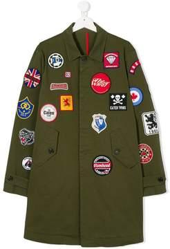 DSQUARED2 multi-patch classic coat