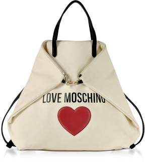 Love Moschino & Heart Cotton Convertible Tote/Backpack