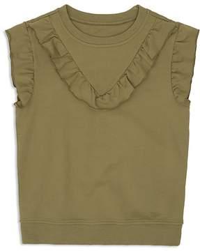 Hudson Girls' Ruffled French Terry Flutter-Sleeve Sweatshirt - Big Kid
