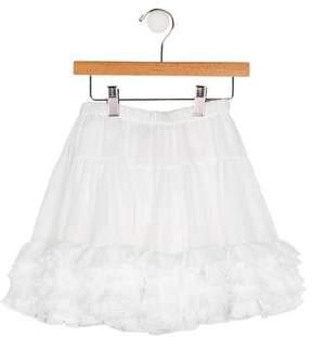 Lili Gaufrette Girls' Tiered Ruffle-Accented Skirt