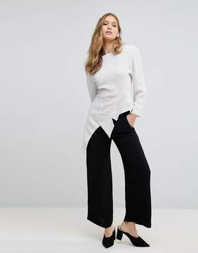 French Connection Ducham Drape Wide Leg Pants
