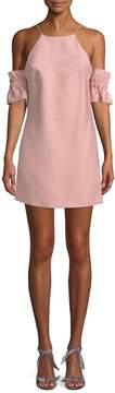 C/Meo COLLECTIVE Women's Cold Shoulder Halter Mini Dress