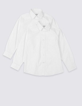 Marks and Spencer 2 Pack Boys' Pure Cotton Skin Kind Shirts