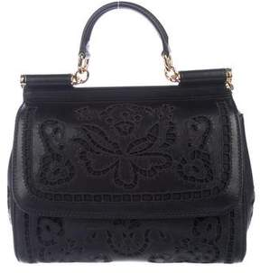 Dolce & Gabbana Floral-Cutout Miss Sicily Bag