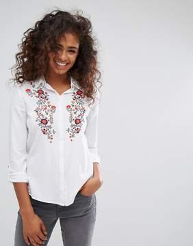 Esprit Floral Embroidered Shirt