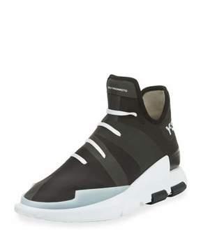 Y-3 Men's Noci High-Top Sneaker, Black/White