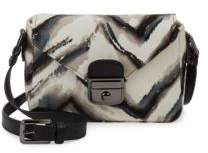 Longchamp Le Pliage Dyed Fur and Leather Crossbody Bag - BLACK - STYLE