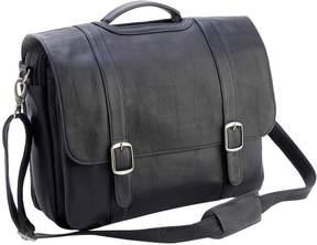 Royce Leather Litigator Triple Compartment Briefcase