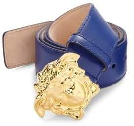 Versace Medusa-Buckle Leather Belt