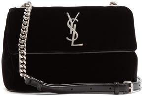 Saint Laurent West Hollywood small velvet shoulder bag - BLACK - STYLE