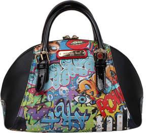 Nicole Lee Street Style Graffiti Print Mini Bowler Bag (Women's)