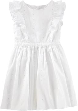 Osh Kosh Toddler Girl Eyelet Ruffle Dress