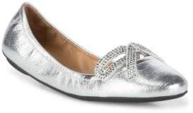 Marc Jacobs Willa Strass Leather Ballet Flats