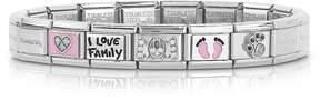 Nomination Classic Mamma Stainless Steel Women's Bracelet w/Pink Symbols