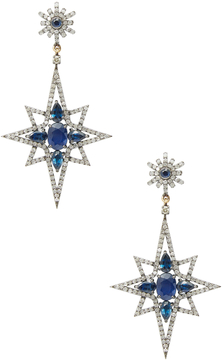 Artisan Women's 18K Gold Diamond & Sapphire Star Earring