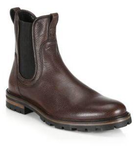 Aquatalia Pebbled Leather Chelsea Boots