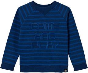 Molo Blue Melange Delroy Stripe Sweater