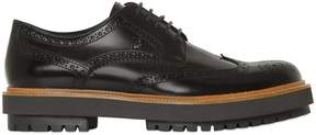 Tod's Brushed Leather Brogue Derby Shoes