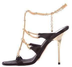 Rene Caovilla Chain-Link Anklet Sandals
