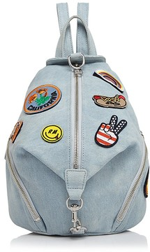 Rebecca Minkoff Julian Patches Medium Denim Backpack - LIGHT DENIM/SILVER - STYLE