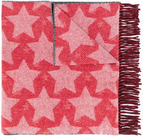 MAISON KITSUNÉ frayed printed scarf