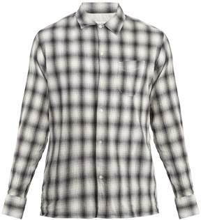 Officine Generale JS checked cotton-blend shirt