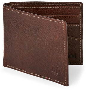 Timberland Brown Billfold Wallet & Key Fob Set