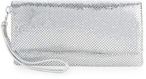 La Regale Women's Mesh Metallic Folded Clutch