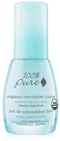100 Pure Organic Cucumber Juice Intense Hydration Replenishing Eye Cream