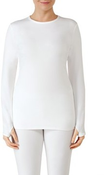 Cuddl Duds ClimateRight by Women's Sueded Warmth Warm Long Underwear Top
