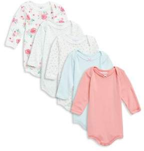 Petit Bateau Baby's Five-Piece Cotton Bodysuit Set